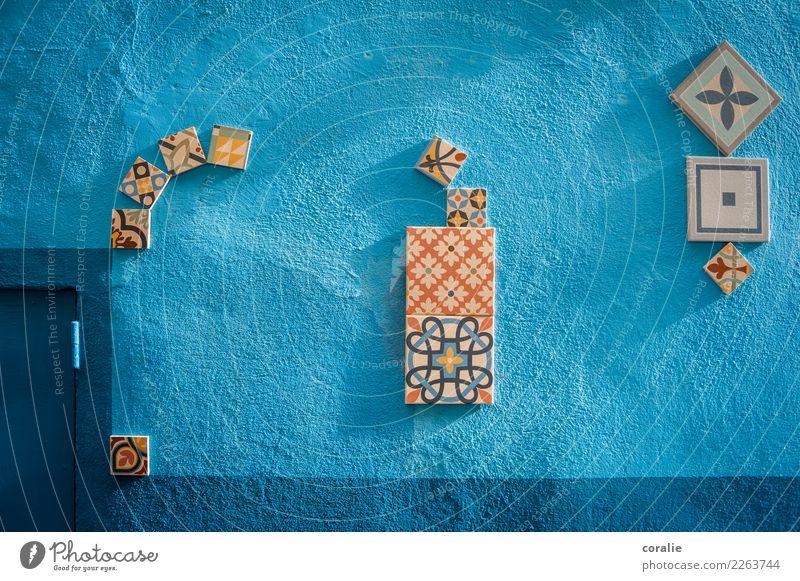 Kleines blaues Wunder II Fischerdorf Kleinstadt Haus Mauer Wand Fassade ästhetisch Fliesen u. Kacheln Muster Dekoration & Verzierung Valencia Spanien Marokko