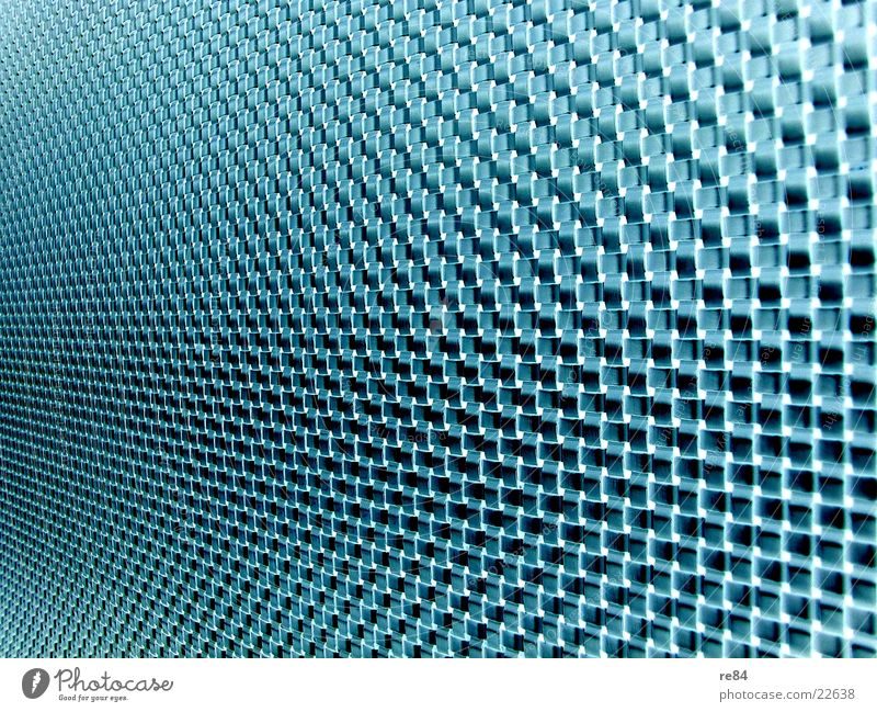 glasfaserwand blau grün schwarz Wand Glas modern Netzwerk Kabel Technik & Technologie Leitung Gitter Vernetzung Faser Muster Informationstechnologie