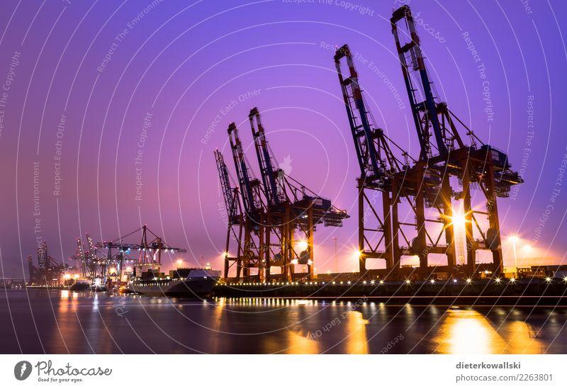 Hafen Umwelt Verkehr Hamburg Güterverkehr & Logistik Schifffahrt Verkehrswege Handel Klimawandel Container Containerschiff Hamburger Hafen Containerterminal