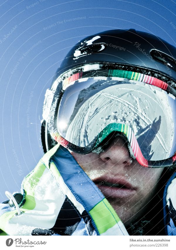 Verdammt coole sau II Jugendliche Winter Erwachsene Schnee Kopf Freizeit & Hobby maskulin Coolness Skifahren 18-30 Jahre Alpen Junge Frau Schönes Wetter Lebensfreude genießen Junger Mann