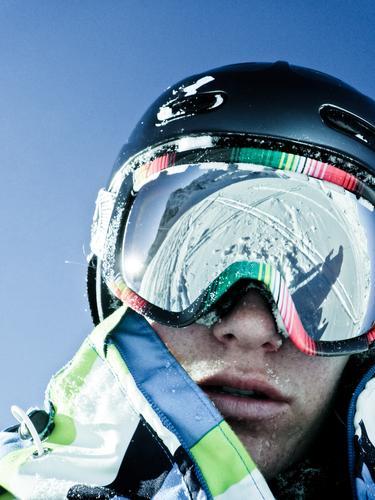 Verdammt coole sau II Jugendliche Winter Erwachsene Schnee Kopf Freizeit & Hobby maskulin Coolness Skifahren 18-30 Jahre Alpen Junge Frau Schönes Wetter