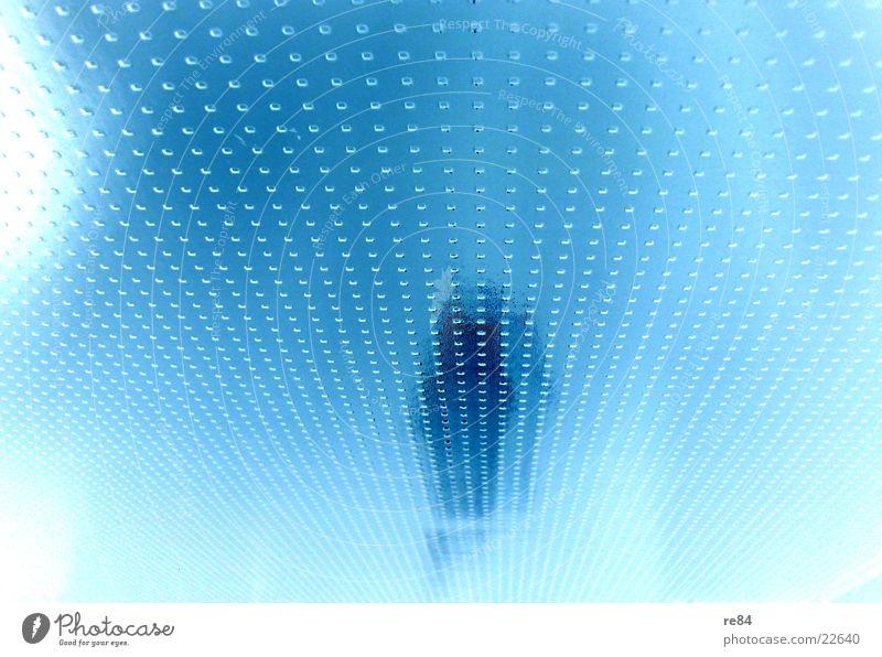 glasmuster2 Muster weiß Licht Milchglas Häusliches Leben Glas blau Space Kontrast hell