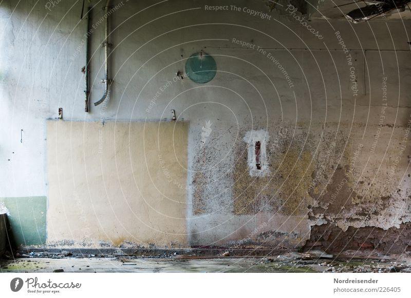 Verschwundene Dinge alt dunkel Wand Stein Mauer Raum Zeit dreckig leer Häusliches Leben Wandel & Veränderung Vergänglichkeit Vergangenheit