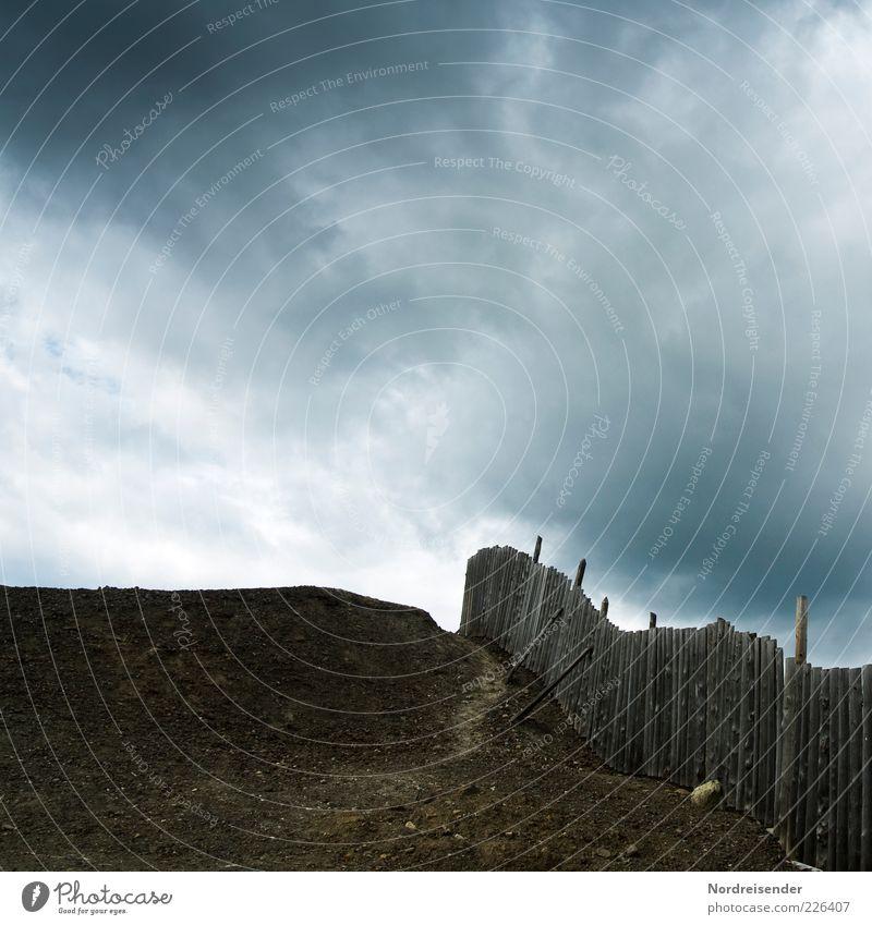 Mordor Umwelt Landschaft Urelemente Erde Gewitterwolken Klimawandel Dürre Menschenleer Wege & Pfade Fußspur außergewöhnlich bedrohlich dunkel gruselig