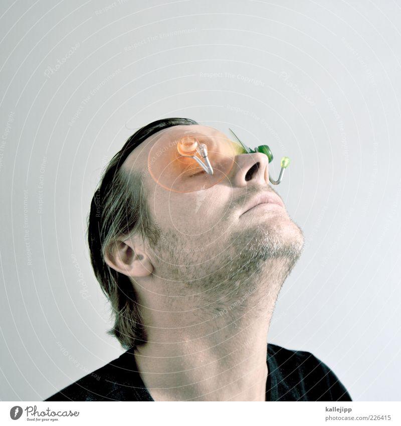 der haken an der sache Mensch Mann Gesicht Auge Kopf Haare & Frisuren Erwachsene Mund Haut Nase Design verrückt maskulin Lippen Ende Kreativität