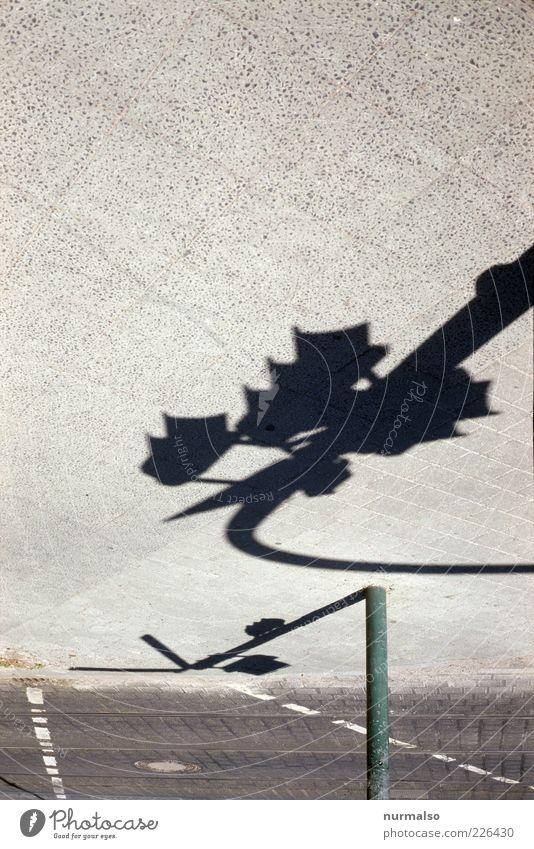 geometrische Stadtblume Sommer Einsamkeit Umwelt Wege & Pfade warten Schilder & Markierungen Verkehr authentisch Lifestyle trist Technik & Technologie Asphalt