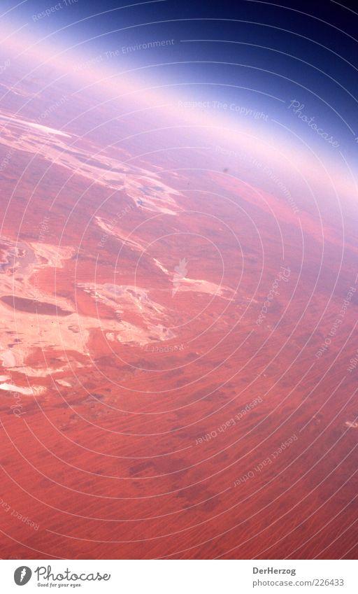 Mars Volta Umwelt Landschaft Erde Luft Himmel Horizont Wüste rot Farbfoto Außenaufnahme Luftaufnahme Australien Atmosphäre Stratosphäre Vogelperspektive Planet
