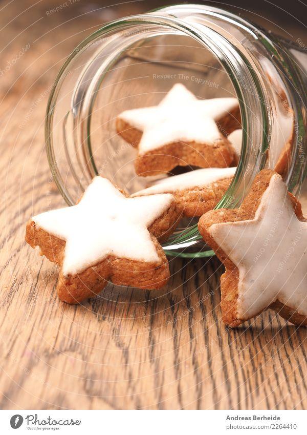 Weihnachtsgebäck, Zimtsterne Teigwaren Backwaren Süßwaren Feste & Feiern Weihnachten & Advent lecker süß food freshness glass Feinschmecker healthy homemade
