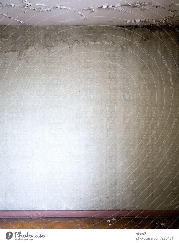 Raum und Freiraum alt Einsamkeit Wand Linie dreckig leer Innenarchitektur Häusliches Leben Streifen retro einzigartig einfach Vergänglichkeit Tapete feucht