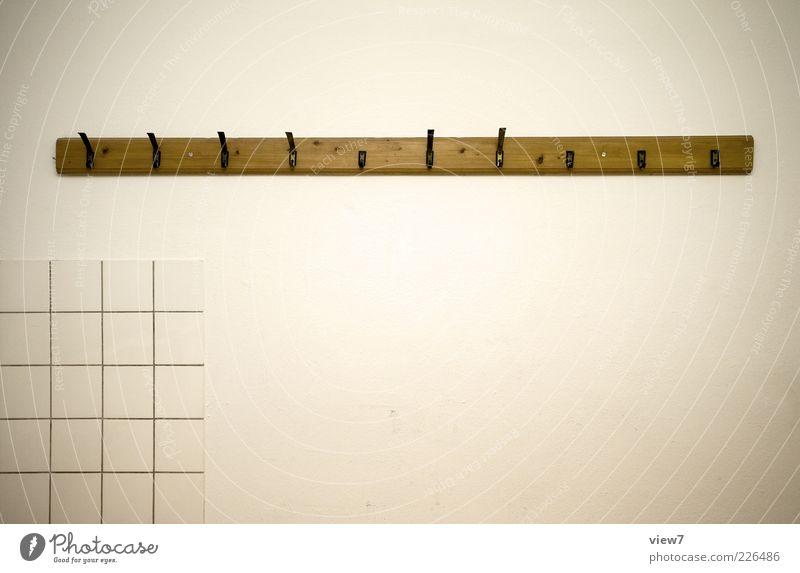 nicht viele und die kaputt Raum Mauer Wand Beton Holz Linie alt dünn einfach Billig einzigartig oben retro Klischee braun Verfall Häusliches Leben Haken