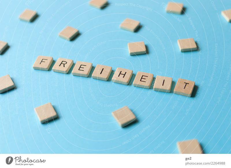 Freiheit Spielen Schriftzeichen frei Unendlichkeit einzigartig blau Toleranz beweglich Leben Gesellschaft (Soziologie) Kommunizieren komplex Kunst träumen
