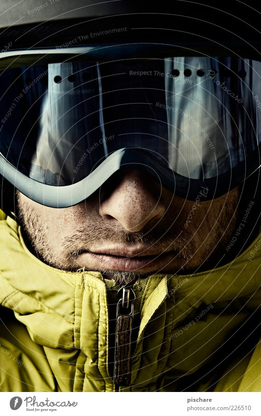 Fex, Bergfex Mann Jugendliche Winter Gesicht Erwachsene Freizeit & Hobby maskulin Lifestyle Coolness beobachten sportlich 18-30 Jahre Helm Wintersport Skifahrer Winterurlaub