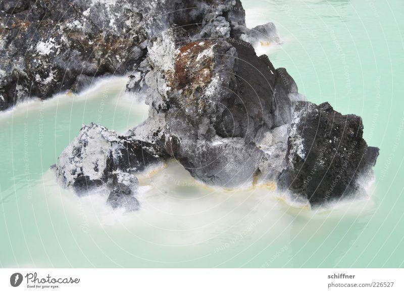 Lagoon III Wasser Wärme Warmwasser Badeort Lagune Blaue Lagune Island Felsen türkis Sediment Seeufer Außenaufnahme Menschenleer Warmherzigkeit Wasserdampf