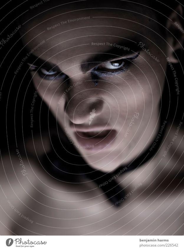 zorn #2 Mensch Jugendliche dunkel Kopf Erwachsene Angst maskulin bedrohlich Wut Gewalt 18-30 Jahre Aggression Ärger Hass schwarzhaarig Fliege