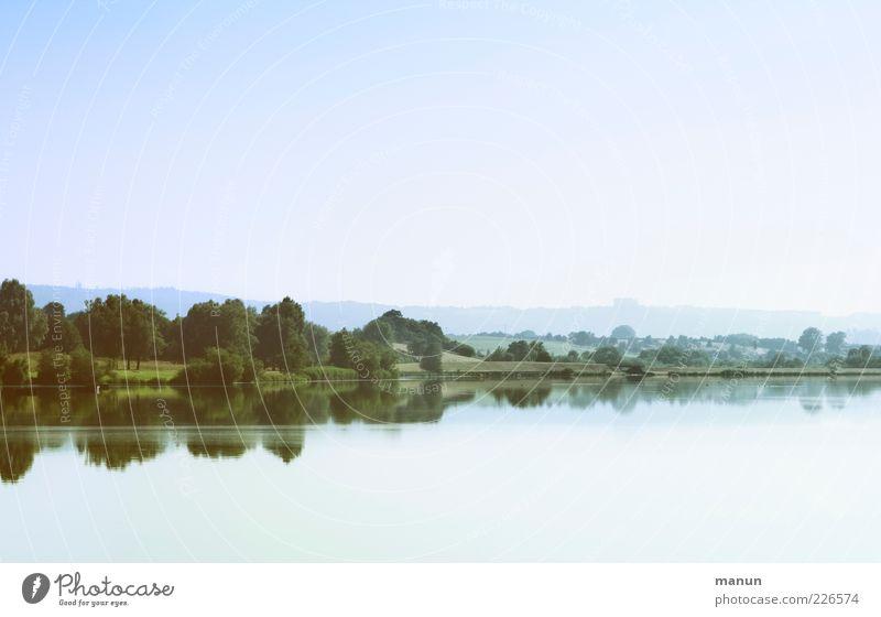 Ausflugsziel Himmel Natur Wasser schön Ferien & Urlaub & Reisen Sommer Einsamkeit Wald Ferne Erholung Umwelt Wiese See natürlich Perspektive