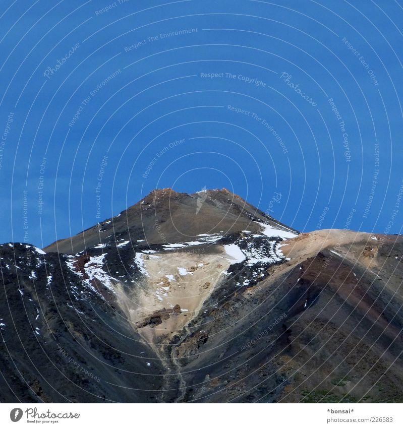 el grande pico Ferien & Urlaub & Reisen Berge u. Gebirge Natur Wolkenloser Himmel Schönes Wetter Schnee Cañadas NP Vulkan gigantisch groß hoch natürlich oben