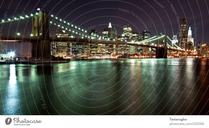 Brooklyn Bridge alt Stadt Ferien & Urlaub & Reisen Architektur Gebäude Hochhaus Tourismus ästhetisch Brücke Fluss USA Bauwerk Amerika Wahrzeichen Flussufer