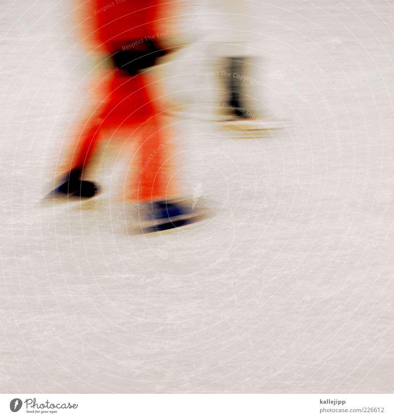 paarlauf Mensch rot Winter kalt Sport Bewegung orange Eis Freizeit & Hobby laufen Frost Schlittschuhlaufen Schlittschuhe gleiten Kratzer Eisfläche