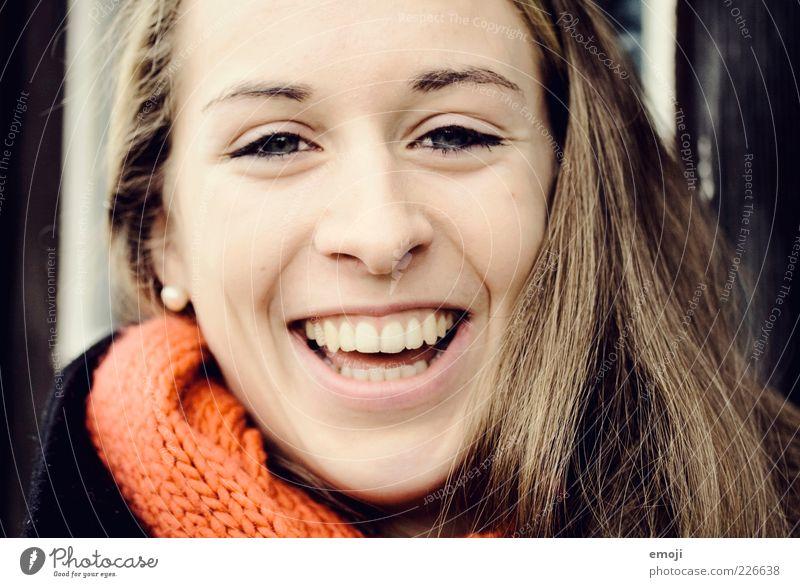 100% Leben feminin Junge Frau Jugendliche Gesicht Mund Zähne Mensch 18-30 Jahre Erwachsene Freundlichkeit einzigartig lachen nah direkt Lebensfreude Glück
