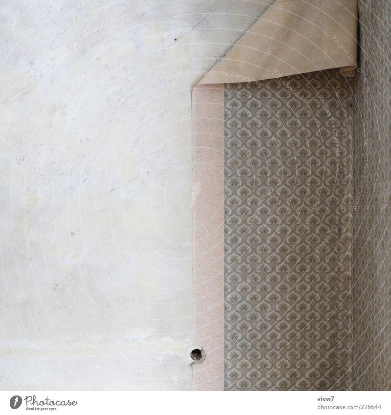 mach neu! Renovieren Umzug (Wohnungswechsel) Tapete Mauer Wand Fassade Beton Ornament Linie Streifen alt einfach retro braun Verfall Vergangenheit