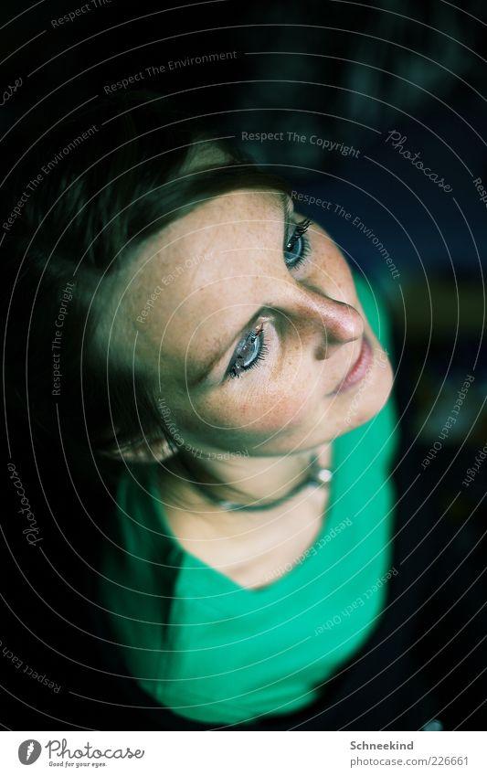 _I_ Frau Mensch Jugendliche schön ruhig Gesicht Auge Erholung Leben feminin Kopf Haare & Frisuren Stil Erwachsene Mund