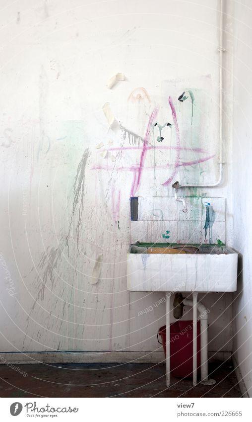 Künstler alt Wand Farbstoff Stimmung Linie dreckig elegant Beton Design modern frisch authentisch einzigartig einfach Vergänglichkeit rein