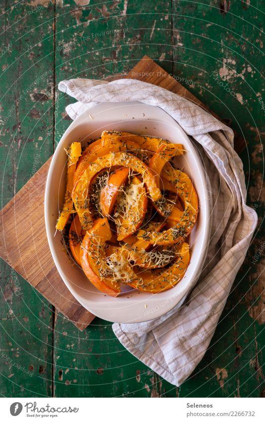 Snack Lebensmittel Käse Gemüse Kräuter & Gewürze Kürbis überbacken Ernährung Essen Bioprodukte Vegetarische Ernährung Diät frisch Gesundheit lecker Farbfoto