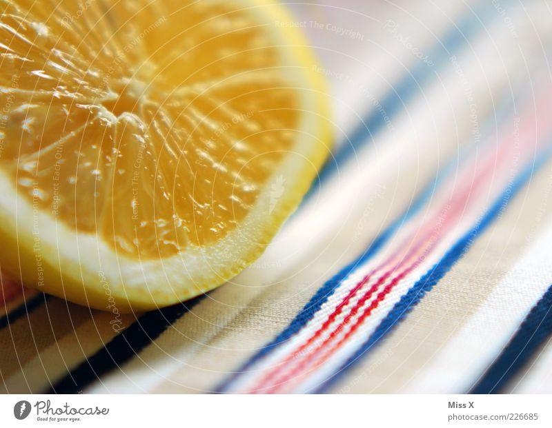 Zitrone Ernährung Orange Lebensmittel Frucht frisch süß lecker Bioprodukte Hälfte Zitrone saftig sauer fruchtig Zitrusfrüchte aufgeschnitten