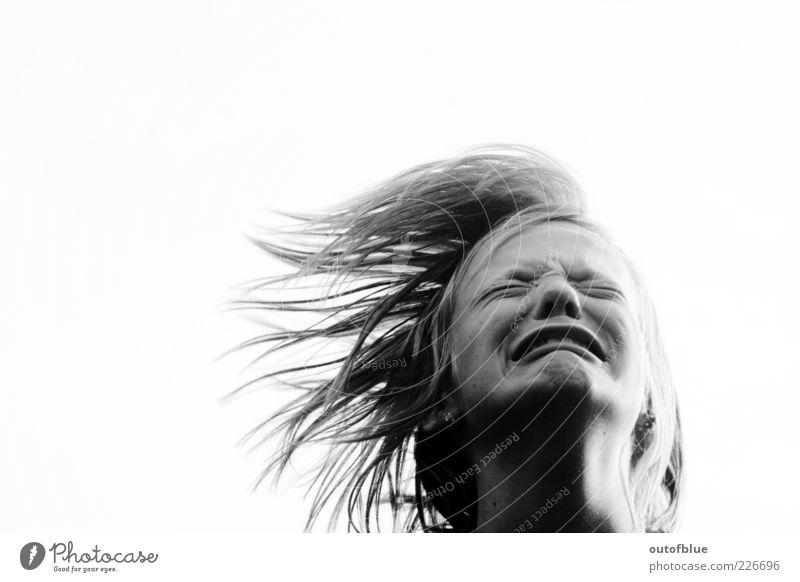 cry Haare & Frisuren Gesicht Mund 1 Mensch 13-18 Jahre Kind Jugendliche schreien Traurigkeit weinen rebellisch verrückt Wut Gefühle Schmerz Verzweiflung