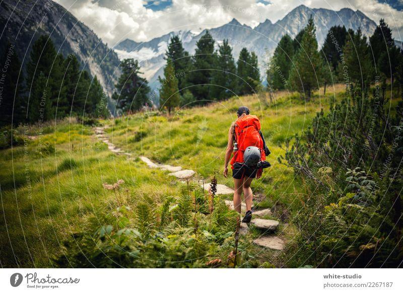 Hello nature! Frau Mensch Natur Ferien & Urlaub & Reisen Jugendliche Junge Frau Sommer Erholung Ferne Berge u. Gebirge 18-30 Jahre Reisefotografie Erwachsene