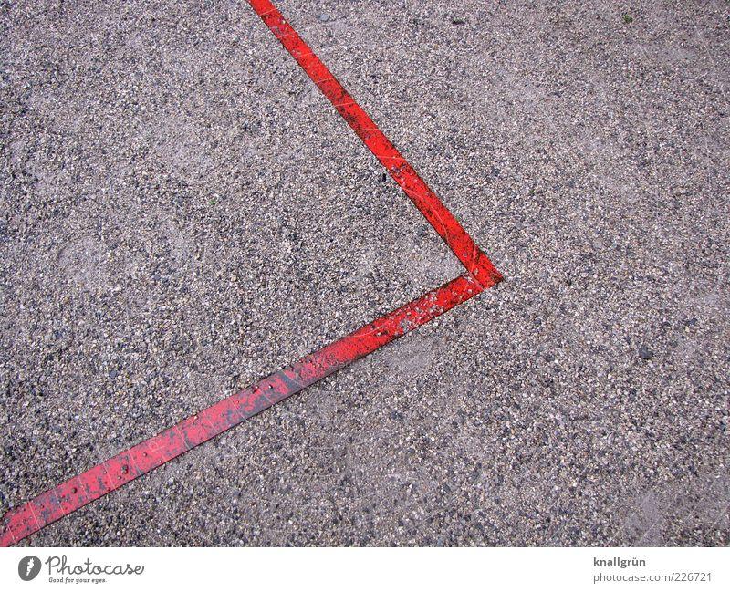 Abgrenzung rot grau Linie Metall nass Schilder & Markierungen Ordnung Ecke Spitze Grenze Am Rand Kieselsteine eckig Begrenzung rechtwinklig Spielfeldbegrenzung