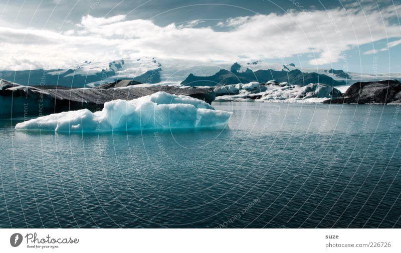 Langer Atem Natur Wasser blau Ferien & Urlaub & Reisen Wolken kalt Berge u. Gebirge Landschaft Umwelt See Eis Klima natürlich wild Frost Urelemente