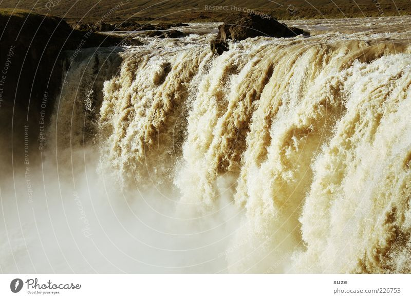 Überfluss Umwelt Natur Landschaft Urelemente Wasser Sommer Klima Klimawandel Felsen Schlucht Fluss Wasserfall außergewöhnlich gigantisch nass wild Dunst Gischt