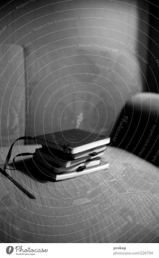 Notizbücher ruhig Erholung Buch liegen einzigartig einfach Sofa geheimnisvoll Möbel Stillleben Stapel privat klassisch Literatur Notizbuch Polster