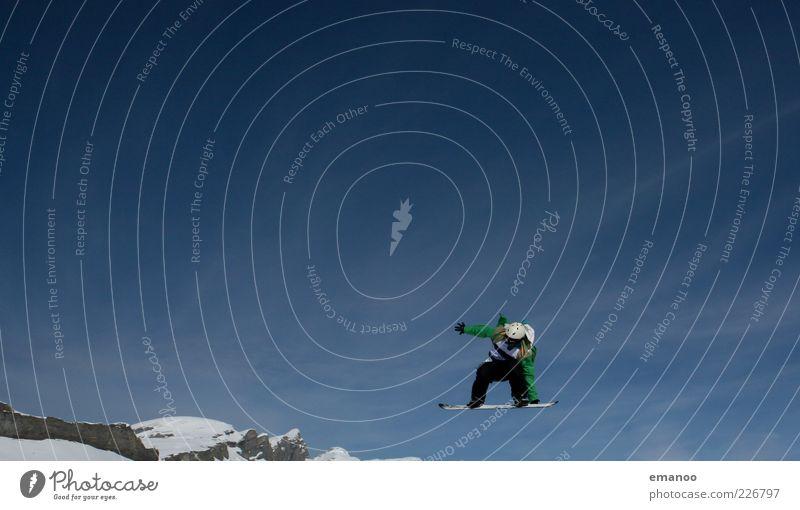 king line Mensch Himmel Natur Ferien & Urlaub & Reisen Jugendliche Junger Mann Freude Winter 18-30 Jahre Berge u. Gebirge Erwachsene Schnee Stil Sport Lifestyle