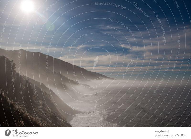 - küstennebel - Ferne Freiheit Strand Meer Umwelt Natur Landschaft Urelemente Wasser Himmel Wolken Horizont Sonne Sonnenlicht Winter Schönes Wetter Küste Bucht