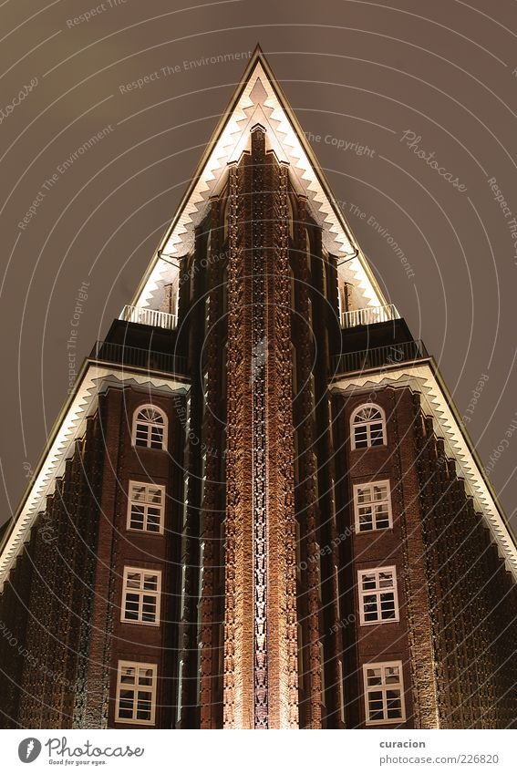 Chile-Spitze Himmel alt oben Architektur Gebäude Deutschland Fassade hoch Hamburg Dach außergewöhnlich Spitze Bauwerk Balkon Denkmal
