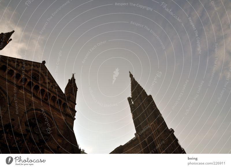 Cathédrale Notre-Dame Straßburg Frankreich Europa Kirche Dom Turm Bauwerk Sehenswürdigkeit Wahrzeichen Straßburger Münster eckig Glaube Religion & Glaube