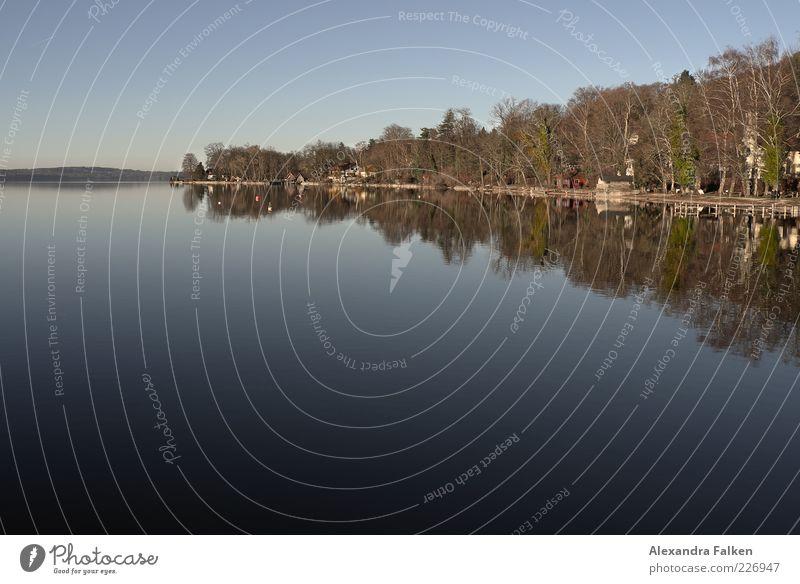 Starnberger See Ferien & Urlaub & Reisen Tourismus Ausflug Umwelt Natur Landschaft Urelemente Wasser Himmel Wolkenloser Himmel Sonnenlicht Herbst Wetter