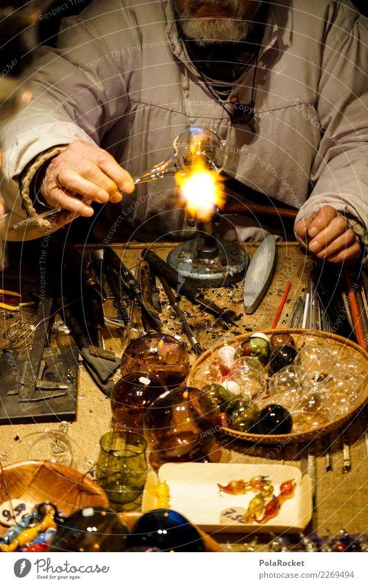 #S# Glasbläser I Künstler machen Schmiede Mittelalter Weihnachtsmarkt Weihnachtsdekoration bunt Feuer Handwerk Kunstwerk Tradition Dekoration & Verzierung
