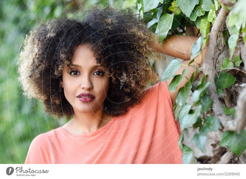 Frau Mensch Jugendliche Junge Frau schön 18-30 Jahre schwarz Gesicht Erwachsene Lifestyle Stil Haare & Frisuren Mode braun niedlich Beautyfotografie