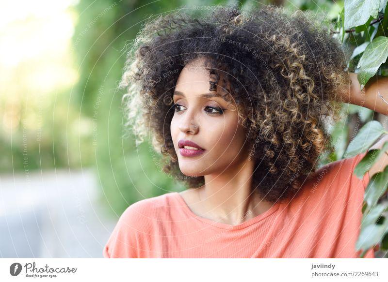 Frau Mensch Jugendliche Junge Frau schön 18-30 Jahre schwarz Gesicht Erwachsene Lifestyle Stil Mode Haare & Frisuren braun niedlich Beautyfotografie