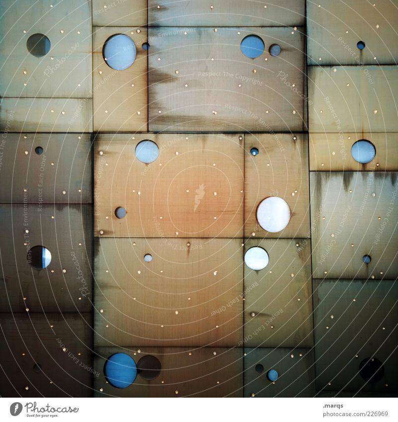 Patchwork Fenster Stil Metall braun Glas Hintergrundbild Fassade Design modern einzigartig rund außergewöhnlich Bauwerk skurril bizarr