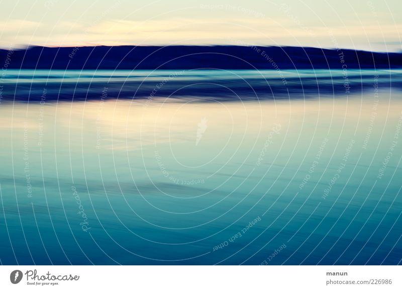 Blaue Stunde Natur schön Ferien & Urlaub & Reisen Meer ruhig Einsamkeit Ferne Erholung Landschaft Küste Stimmung Felsen Insel einzigartig Urelemente
