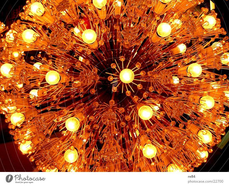 Lichtbündel Sonne schwarz gelb Gefühle hell Erde orange Brand Perspektive Kreis Kugel Kette extrem Bündel Lichterkette Zoomeffekt