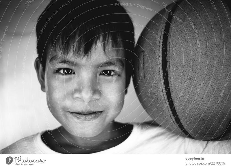 Schließen Sie herauf kleinen jungen asiatischen Jungen des Gesichtsporträts Stil Freude Glück schön Kind Baby Kleinkind Mann Erwachsene Kindheit blond Lächeln