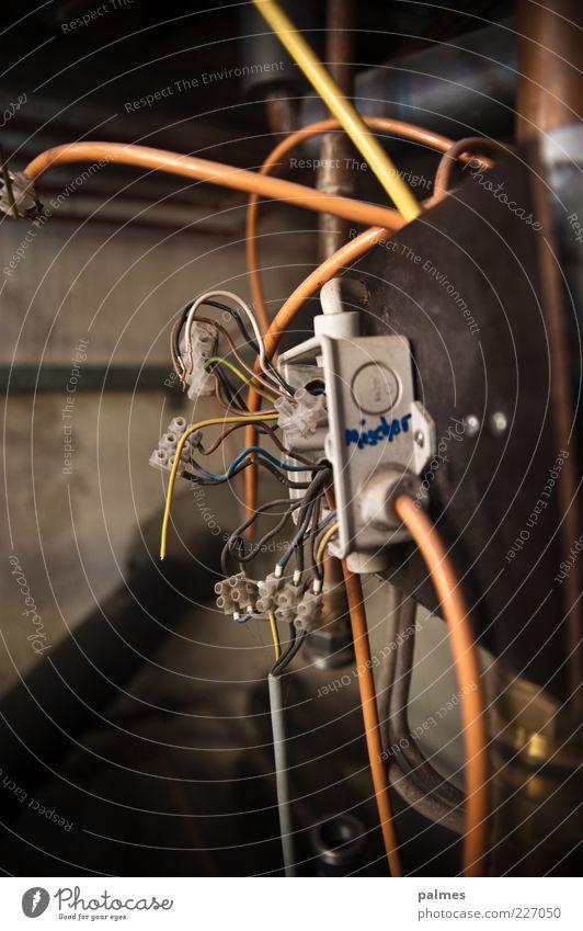 Mischer heimwerken Elektrisches Gerät Kabel Klemme Technik & Technologie kompetent komplex Farbfoto Gedeckte Farben Innenaufnahme Detailaufnahme Menschenleer