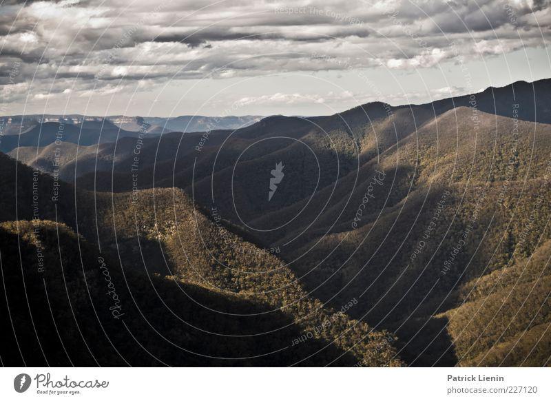 Blue Mountains Natur schön Pflanze Wolken Einsamkeit Ferne Wald Umwelt Berge u. Gebirge Landschaft grau Luft Wetter Wind Horizont Felsen