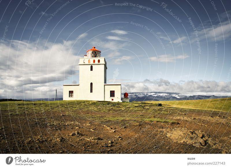 Tagesschau Umwelt Natur Landschaft Urelemente Erde Himmel Wolken Horizont Sommer Klima Wetter Schönes Wetter Wiese Hügel Leuchtturm fantastisch schön Fernweh