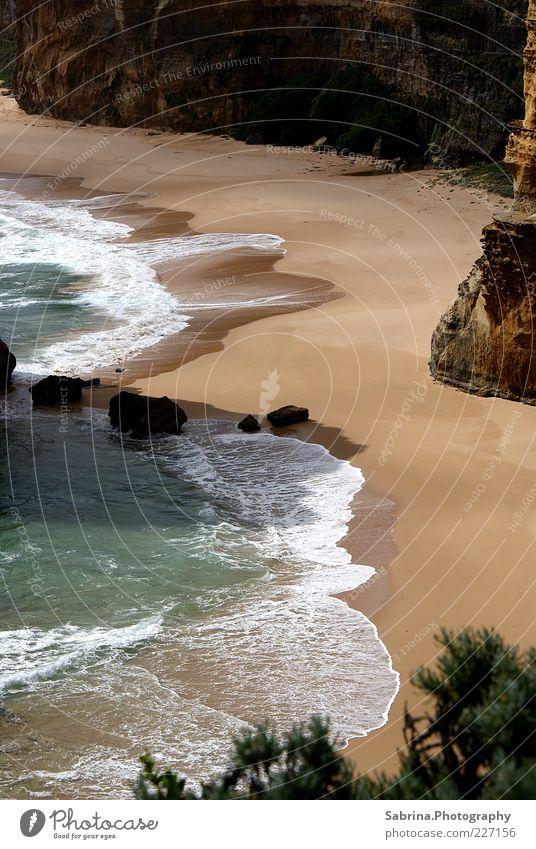 Im Schatten des Apostels. Natur Wasser Strand Meer Freiheit Landschaft Sand Küste Stein Wellen Felsen Schönes Wetter Brandung Sehenswürdigkeit Australien Klippe